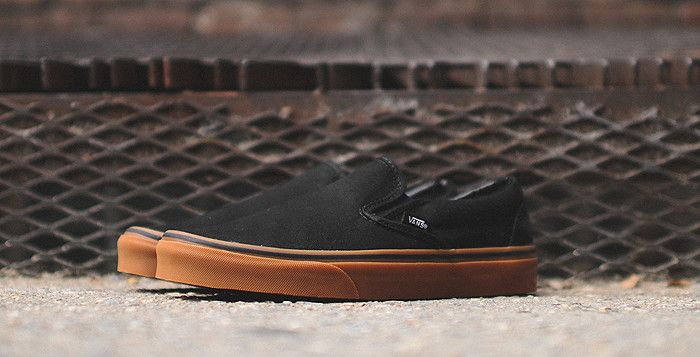 vans gum sole slip on