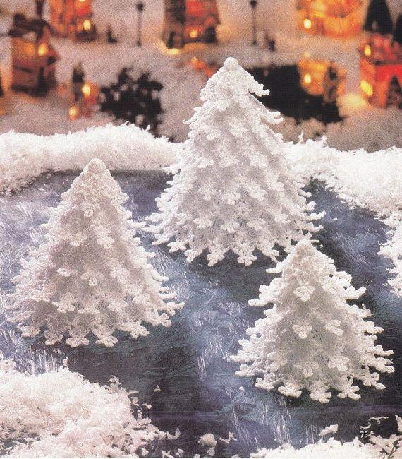 Arbres de Noël au Crochet Pattern  3 tailles  par PaperButtercup