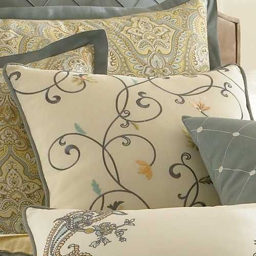 Laura Ashley Berkley Square Pillow - Floral Scroll by Laura Ashley Bedding : The Home Decorating Company $40