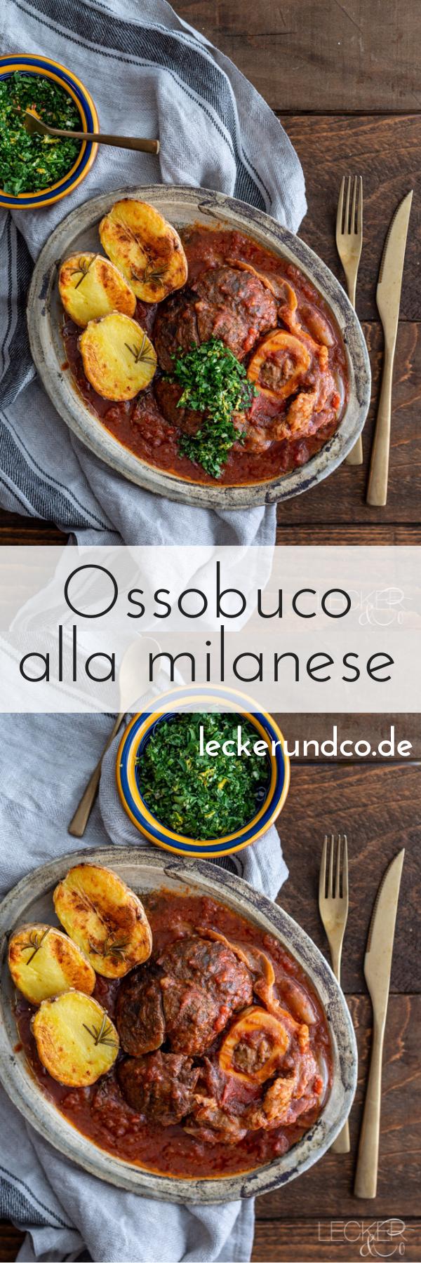 Ossobuco alla Milanese mit Gremolata und Rosmarin-Kartoffeln