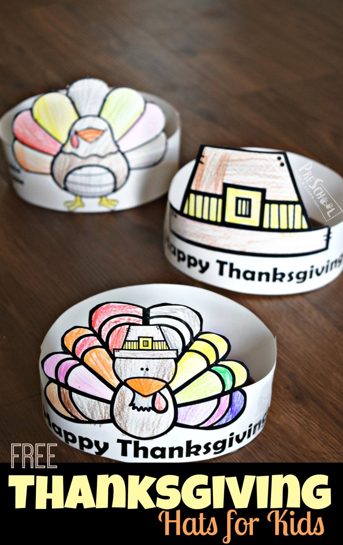 Free Thanksgiving Hats For Kids With Images