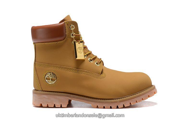 UK NEW Timberland Wheat Men 6 Inch Premium Boot with Metal Logo