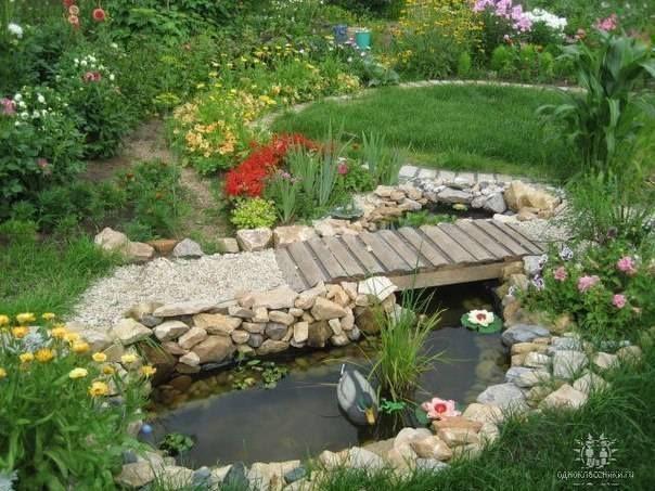 teich mit brücke | GARTEN | Teichbrücke, Wasserfall garten und Teich