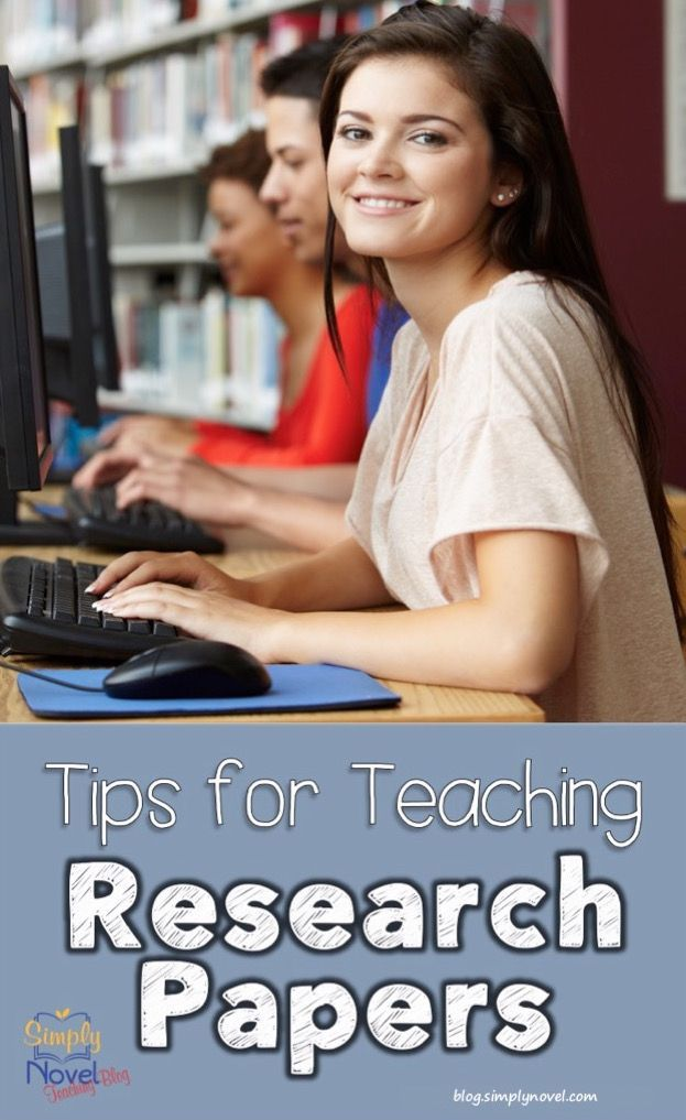 Ideas, Tips and Resources for Teaching Students How to Write - how to write a research paper