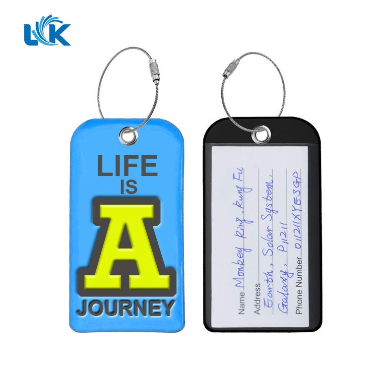 Skull Baggage Tag For Travel Tags Accessories 2 Pack Luggage Tags