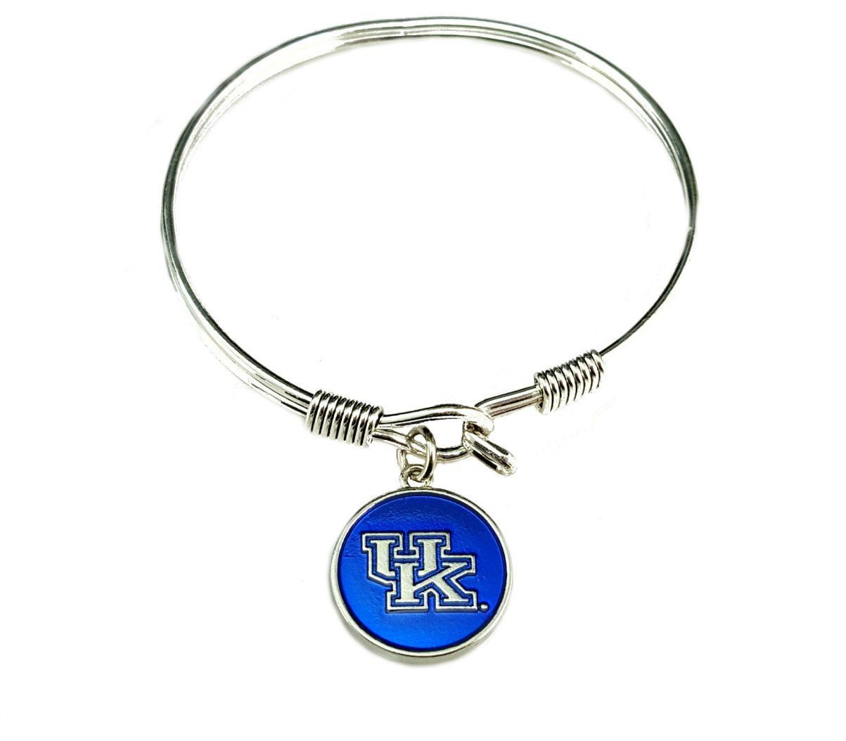 University Of Kentucky Wildcats Bangle Bracelet Silver Plated Ncaa Uk