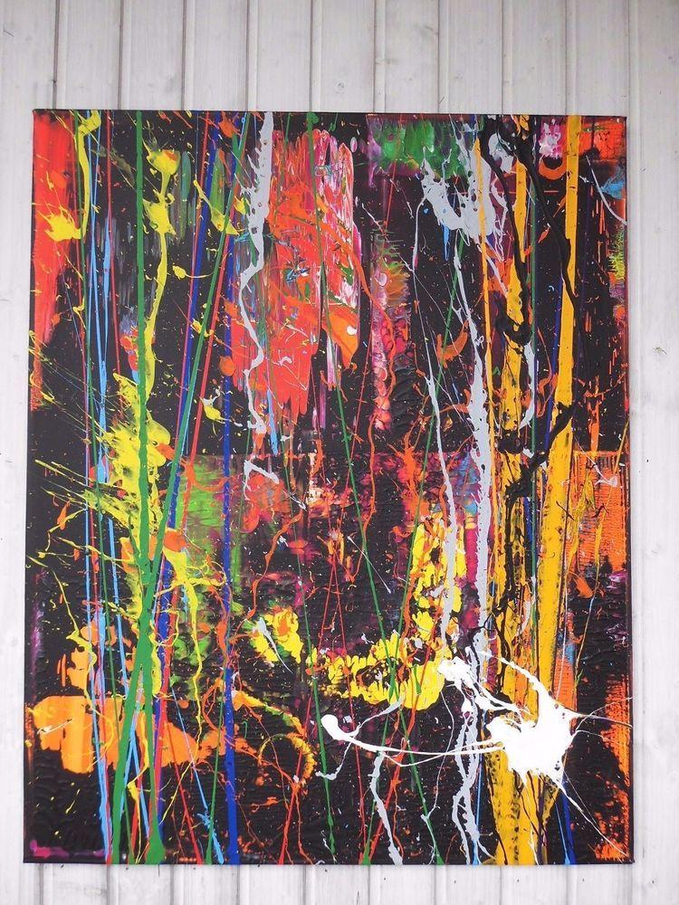 Fantastisch XL Bild Abstrakt Acryl Bilder Modern Gemälde Kunst Original Deko Wandbild