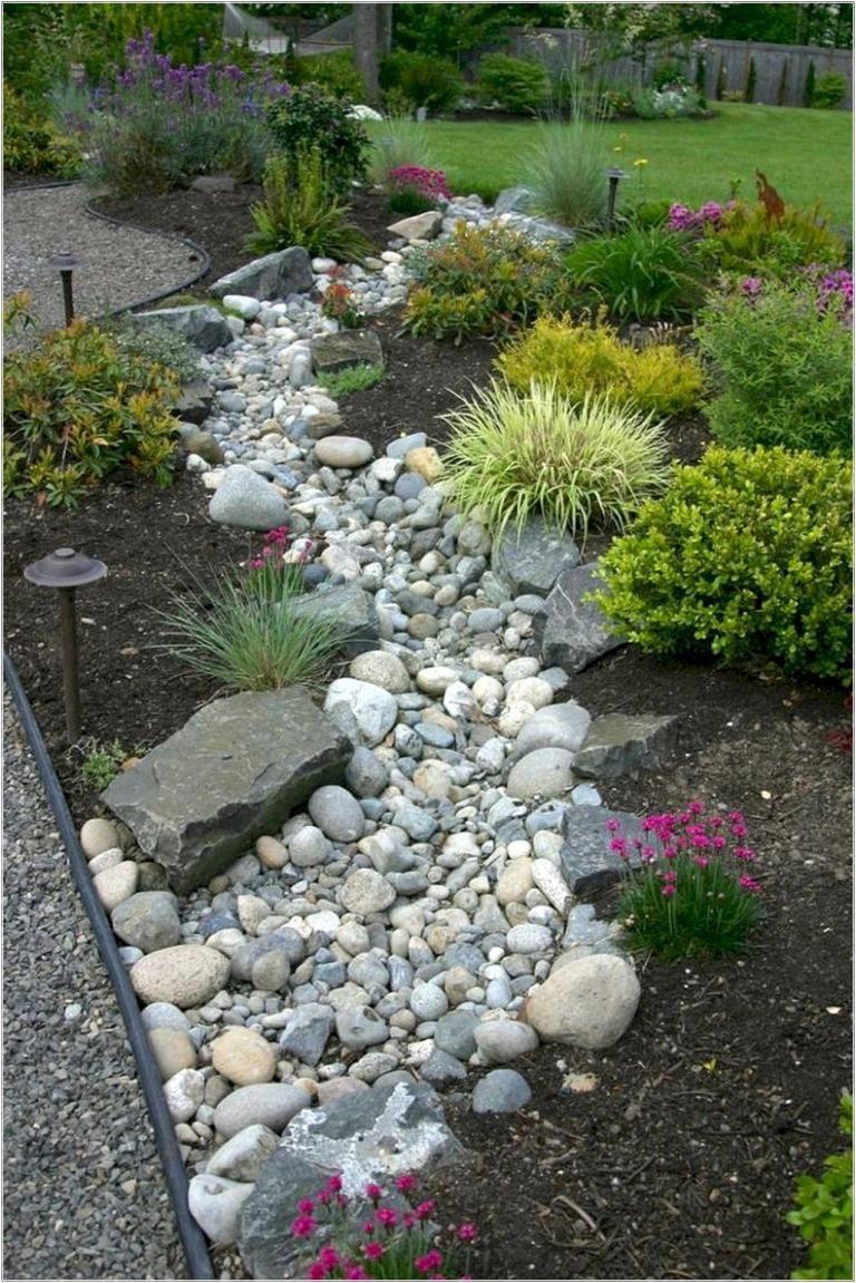 Gorgeous Front Yard Rock Garden Decor Ideas Rock Garden