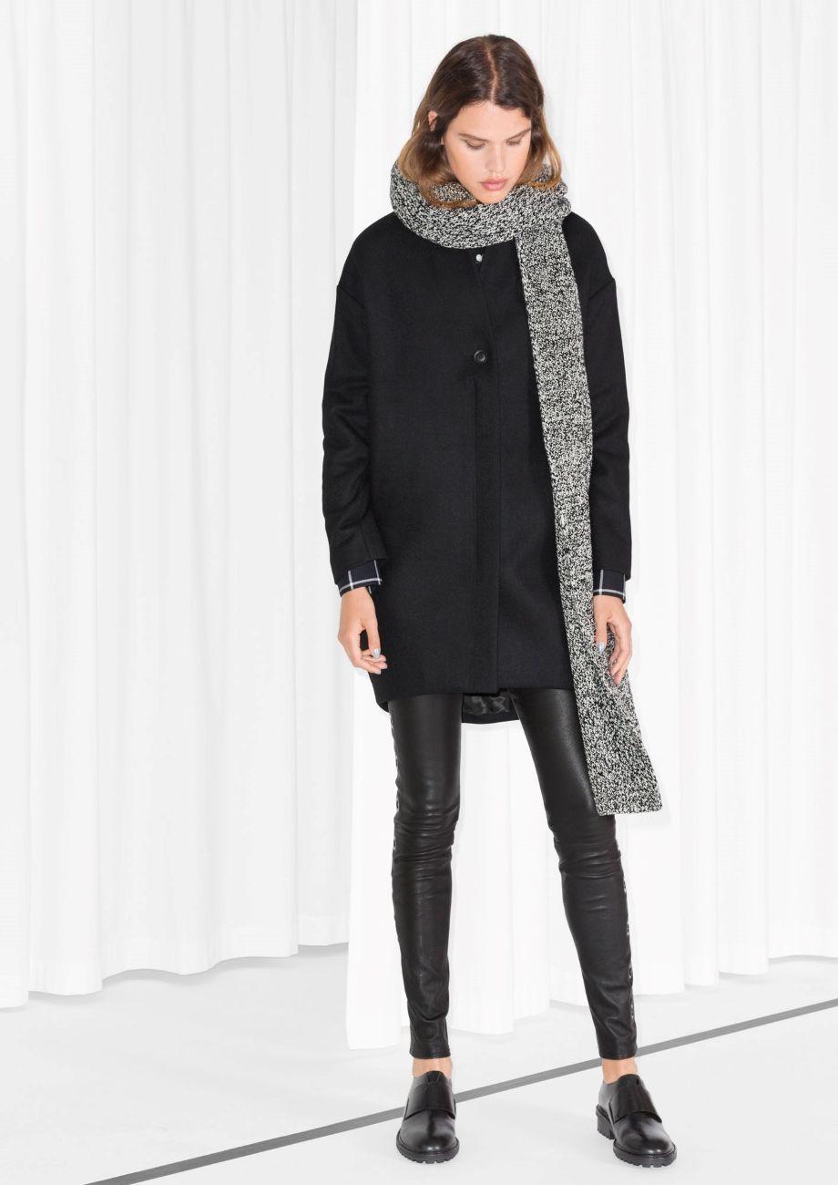 Other Stories Wool Blend Coat Black Wool Blend Coat Black Coat Clothes [ 1300 x 920 Pixel ]