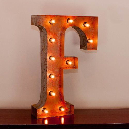 Buy Vintage Marquee Letter F With Lights 24 Inches Tall