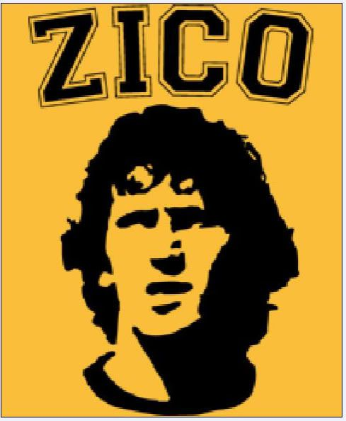 Pin By Marcelo Gomez On Brazilian Expressions Zico Football Poster Soccer Art