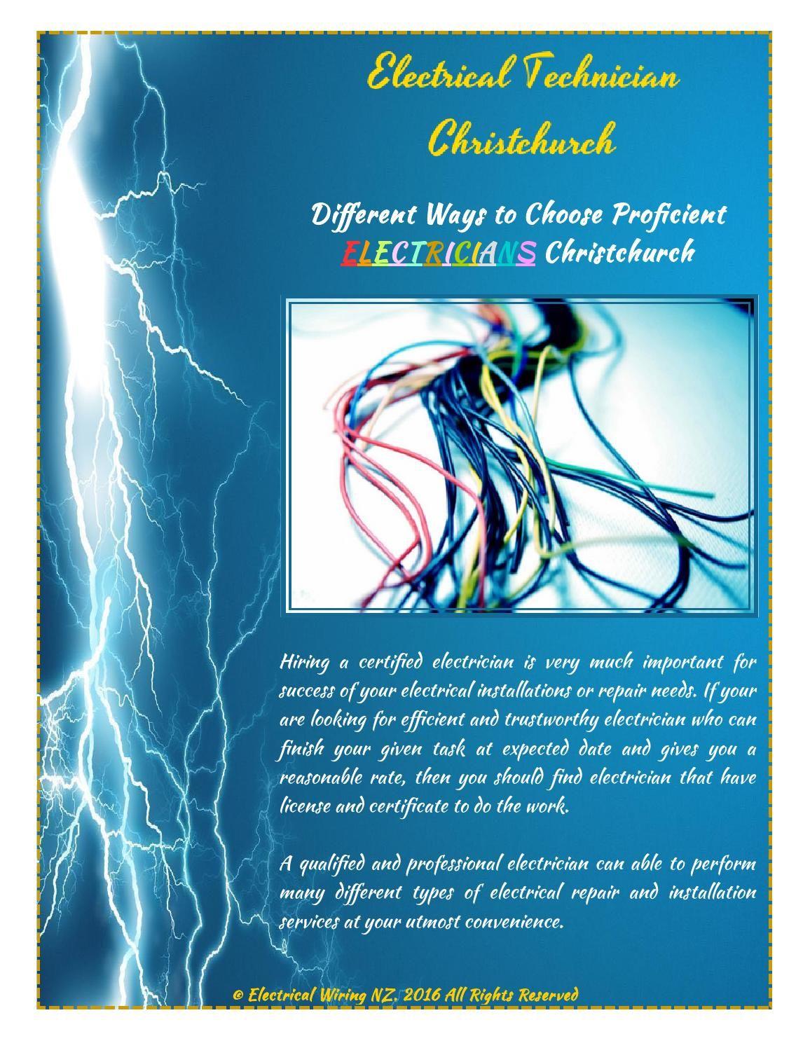 Different Ways to Choose Proficient Electricians Christchurch ...
