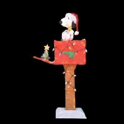 48 In 3d Pre Lit Led Yard Art Snoopy Mailbox Christmas Yard Art Disney Christmas Decorations Outdoor Christmas Yard Decorations