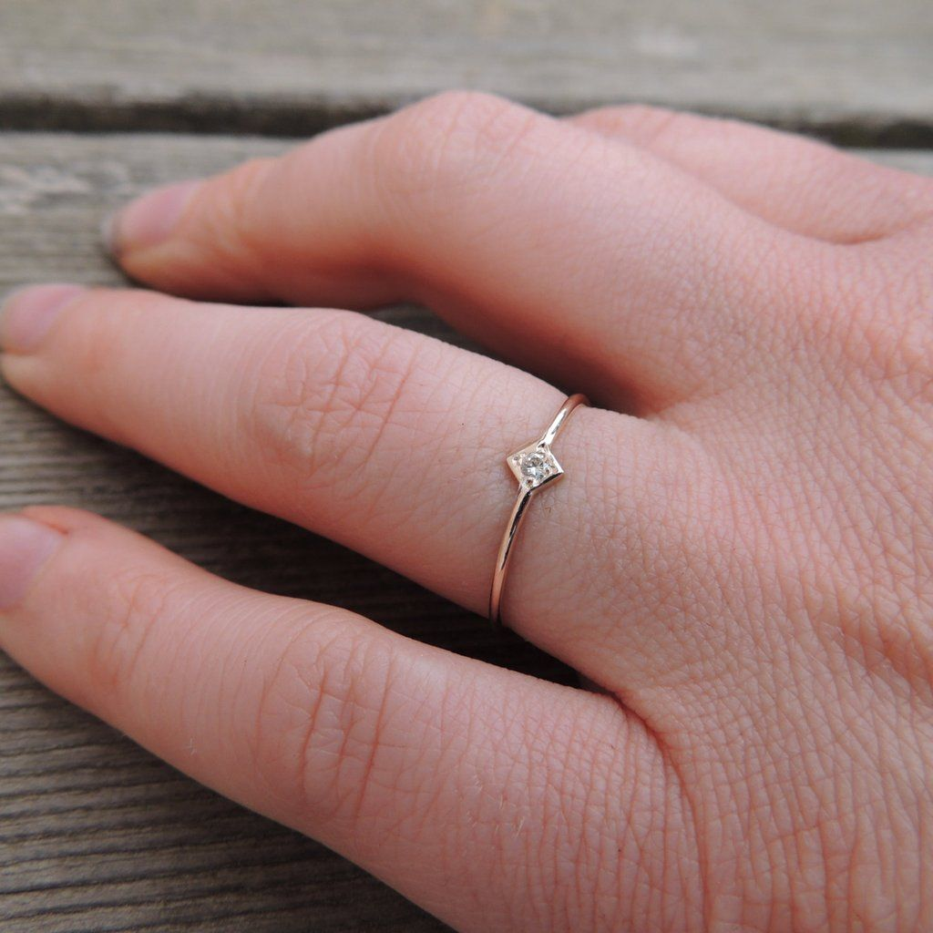 Rose Gold & White Sapphire Ring: $65 | White sapphire, Engagement ...