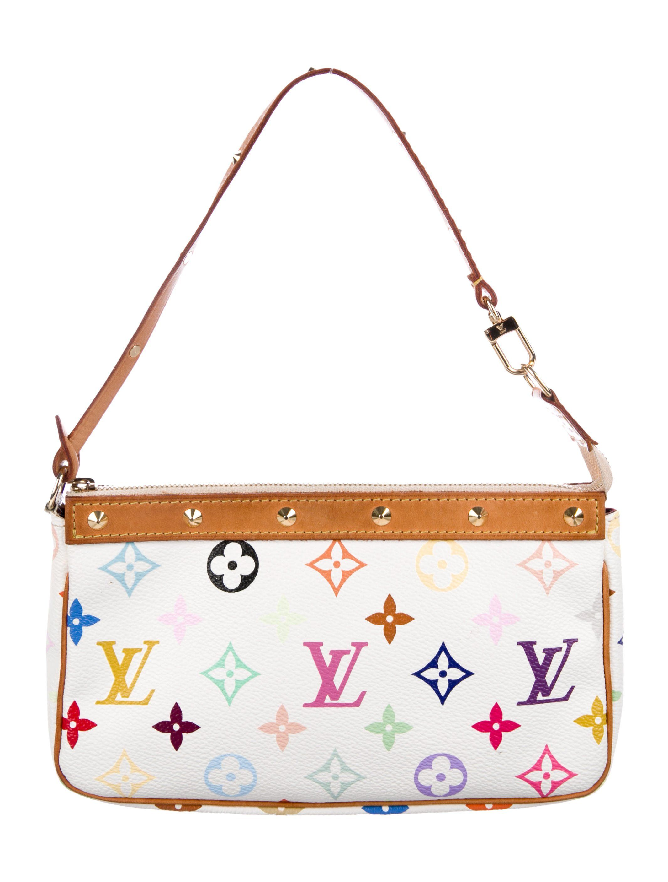 Limited Edition From The Takashi Murakami Collection White And Multicolore Monogram Louis Vuitton Handbags Crossbody Louis Vuitton Handbags Louis Vuitton Bag
