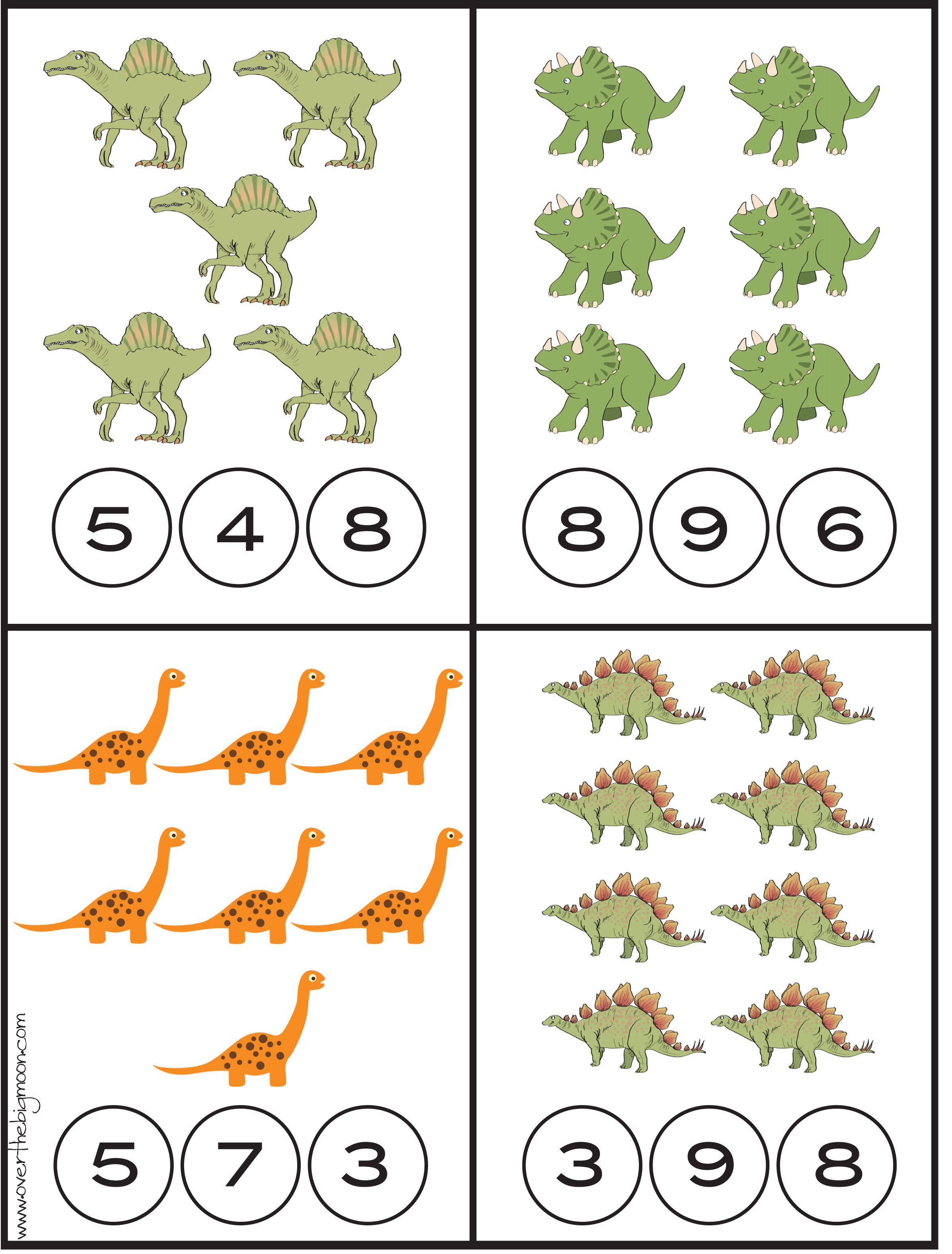 Werkblad Rekenen Dino S