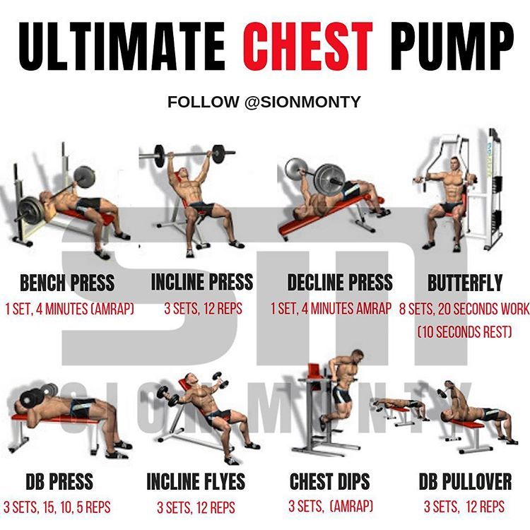 Ultimate Chest Pump Workout By Sionmonty Amrap Stands For
