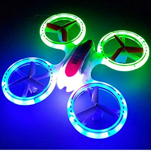 New Design SkyCo Mini Drone Helicopter UFO JXD 398 Lighting RC Quadcopter 2.4G 4CH 6 Axis with Fantastic LED Light Original Review