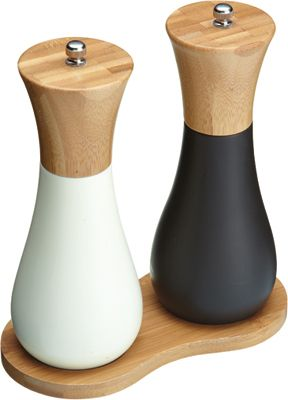 Kitchen Craft Java Bamboo Wood Salt Pepper Grinder Mills