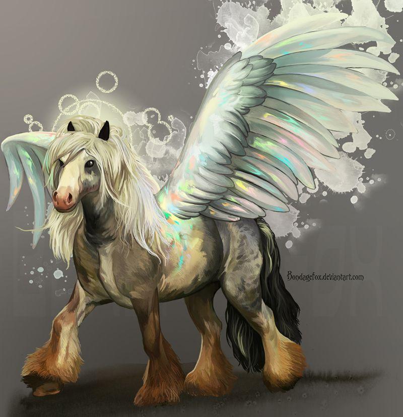 Opal Pegasus by =BondageFox on deviantART