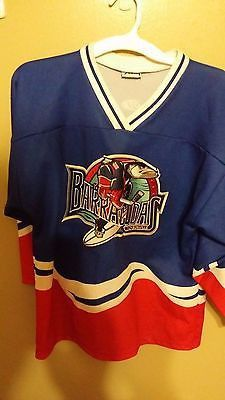 5eb9a140652ee JACKSONVILLE BARRACUDAS MINOR LEAGUE HOCKEY JERSEY SIZE L YOUTH ...