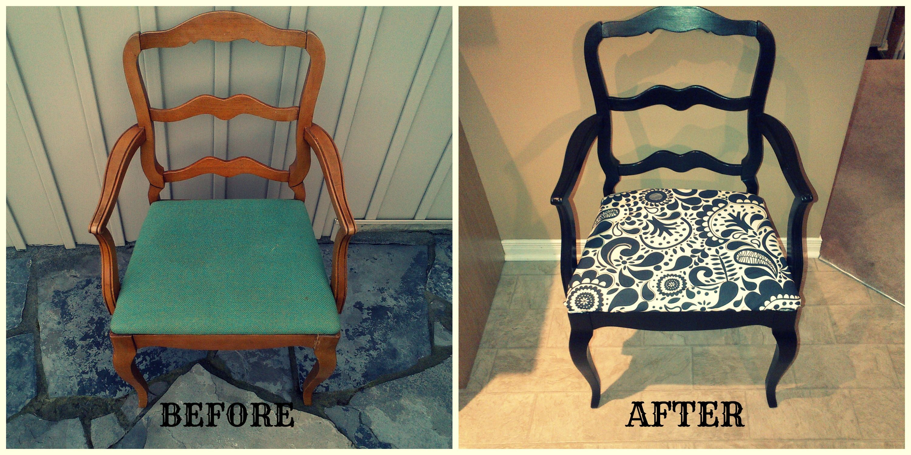 chair covers by ruth storing banquet diy captain kitchen chairs sand re paint and fabric