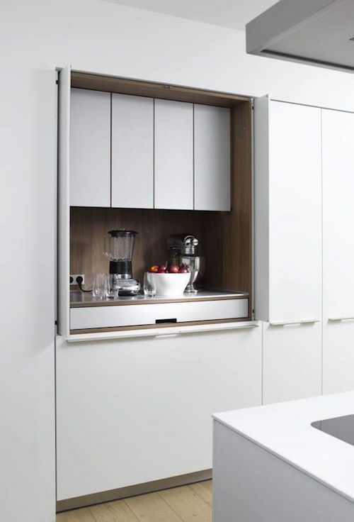It Makes So Much Sense When E Is Kitchens Concealed Behind Accordion Doors Sliding Cabinet Anything Takes To Keep The Clutter