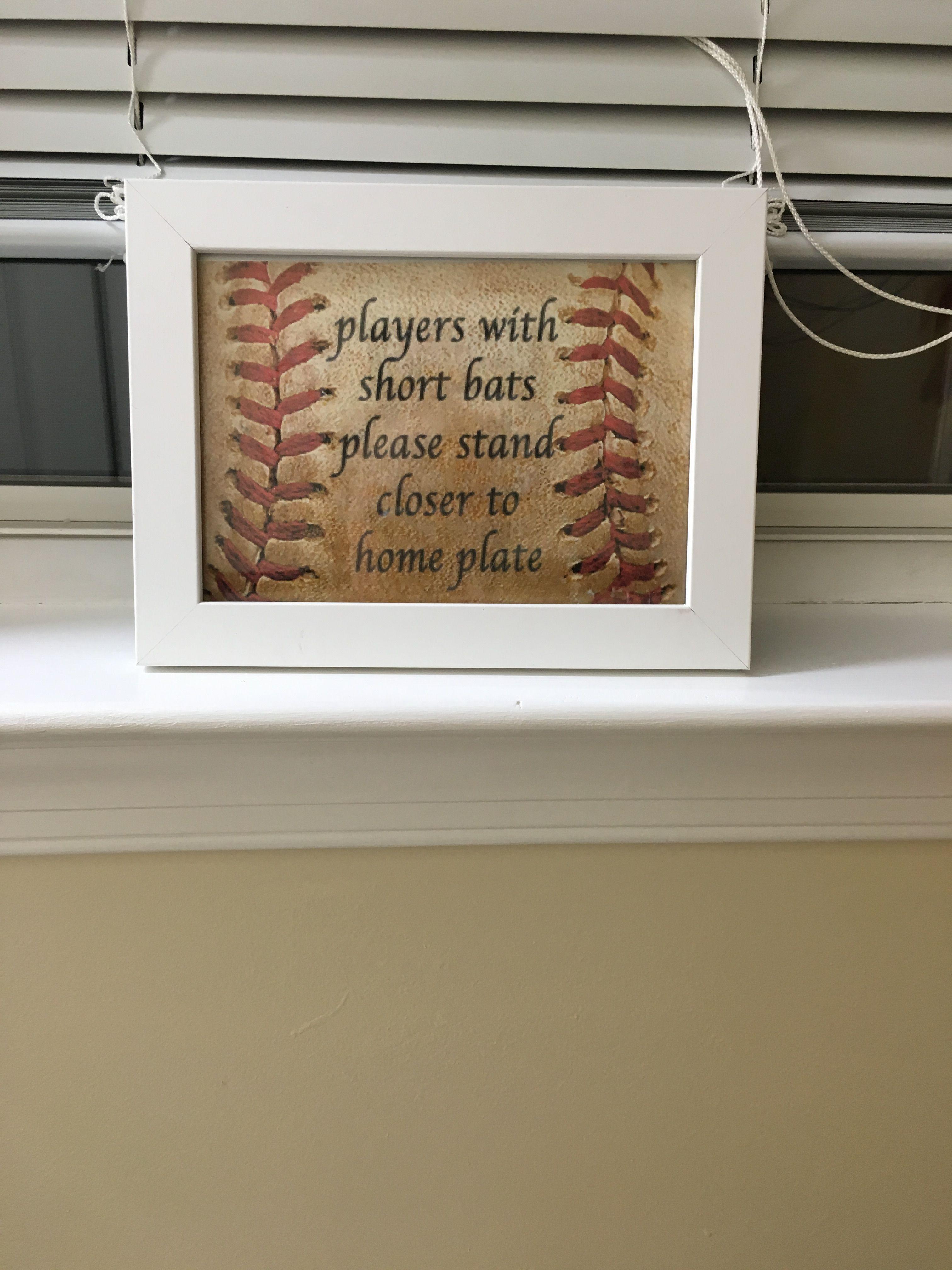 Sign For Boys Baseball Bathroom