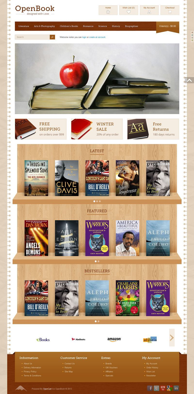 Ice Openbook Responsive Opencart Book Store Template Premium