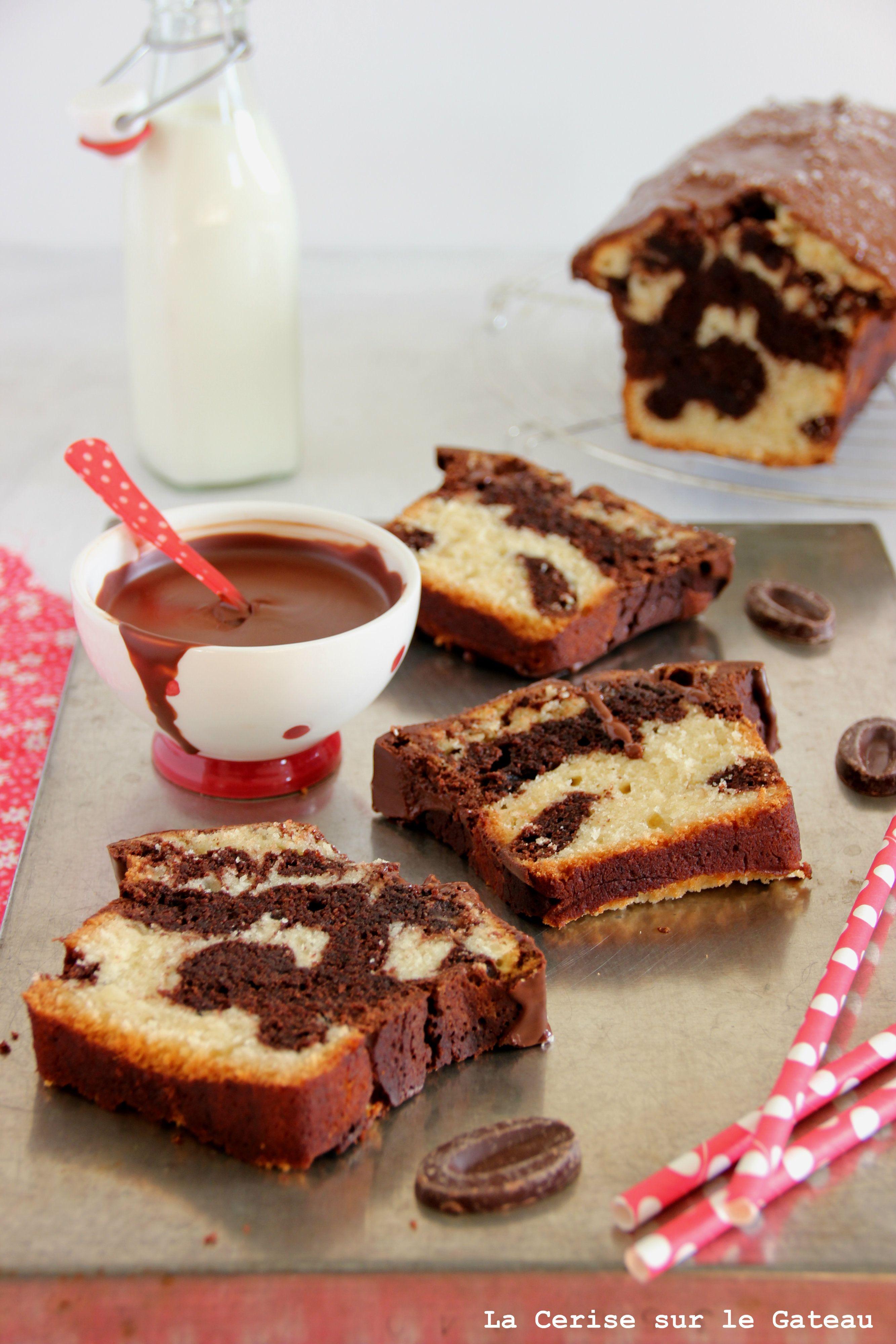 Cake marbré Gateau cerise, Cake marbré et Cake