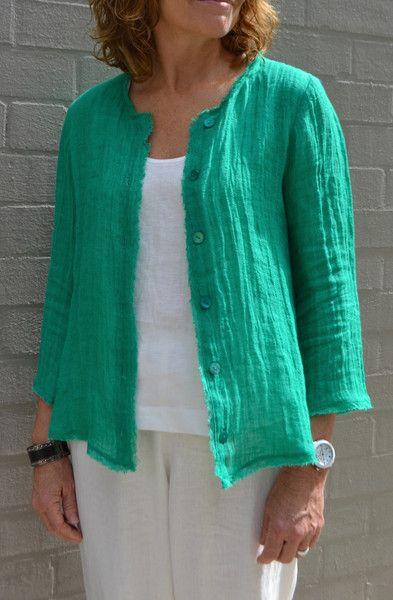 Silva Shirt Jacket Pattern - Patterns - Tessuti Fabrics - Online ...