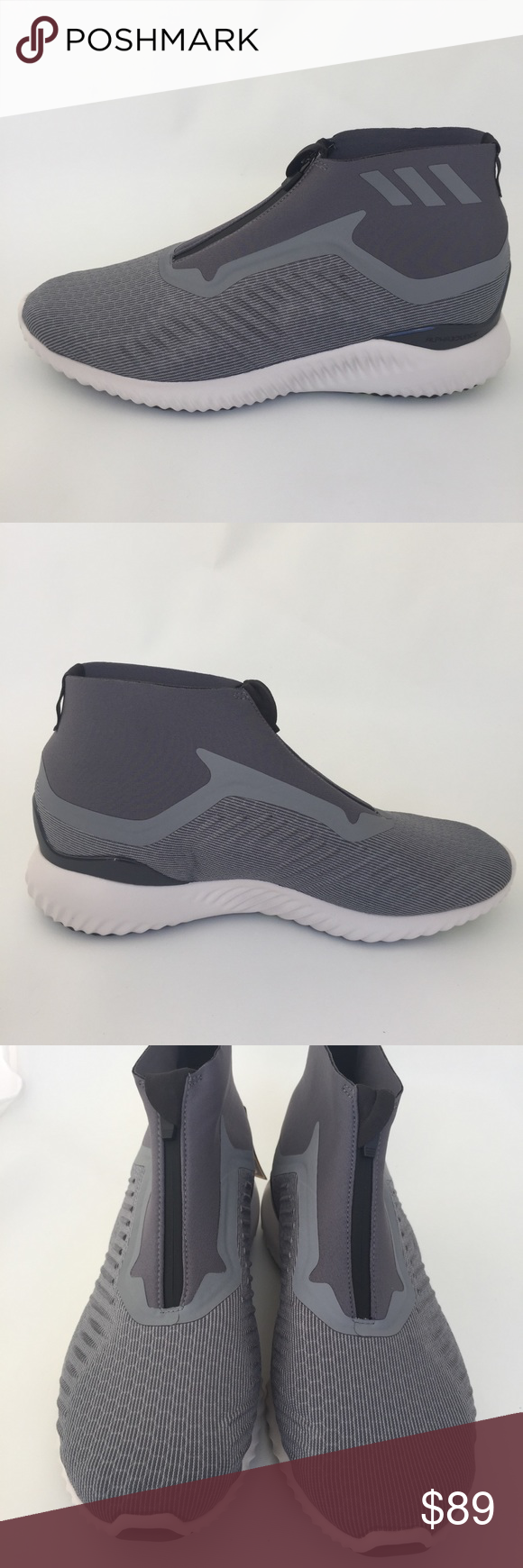 check out 1da73 32366 Adidas Alphabounce 5.8 Zip Running Winter Bootee Adidas Alphabounce Running  Shoes Laceless Zip Closure Continental Rubber Outsole for Traction Style  BW1385 ...