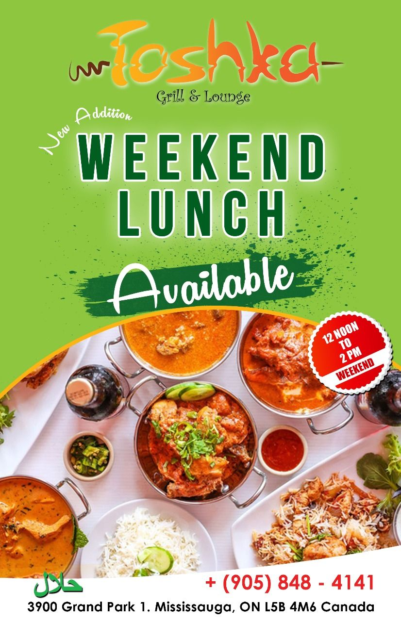 Good Food Choices Are Good Investments Make It Worth With Our Special Weekend Lunch Menu For More Info Details Call 90 Desi Food Halal Recipes Lunch Menu