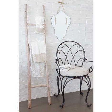 Toallero escalera madera muebles auxiliares decoraci n for Escaleras zara home