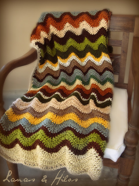a rolling ripple blanket (loves these colors) | crochet afghans and ...