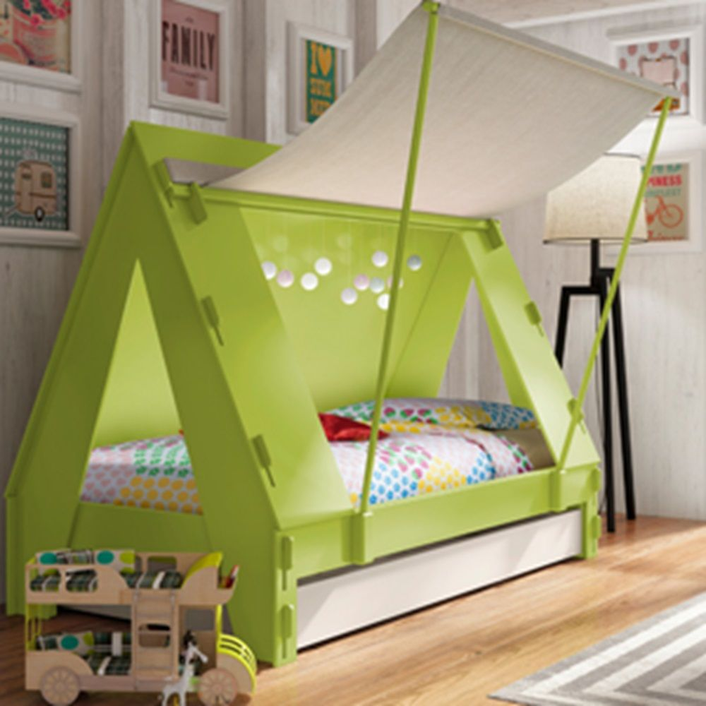 KIDS TENT BEDROOM CABIN BED in Green & KIDS TENT BEDROOM CABIN BED in Green   Ridiculously Cute ...