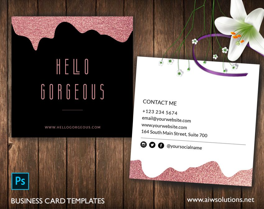 Square rose gold business card business card template calling card square rose gold business card business card template calling card colour name card elegant and clean design mint green blue name card for artist wajeb Image collections
