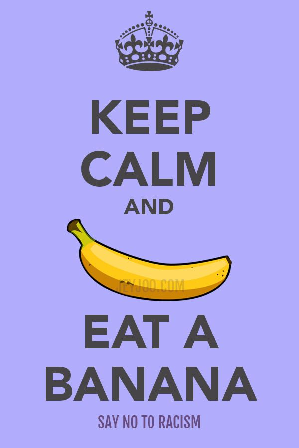 Keep Calm And Eat A Banana   Free Stock Photography