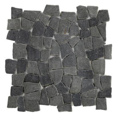 Colours Single Black Lava Mosaic Wall Tile (L)320 x (W)320mm, 5052931054756 for table