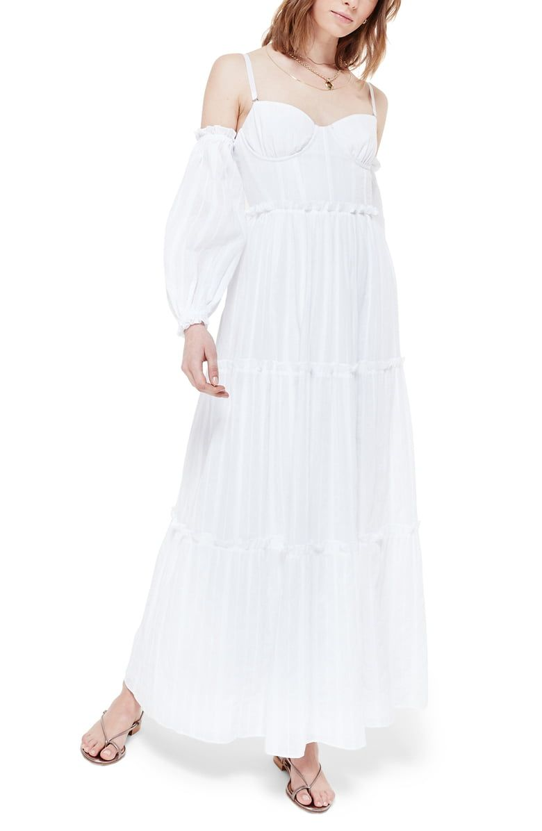 Cami Nyc The Cora Cold Shoulder Long Sleeve Maxi Dress Nordstrom Maxi Dress With Sleeves Long Sleeve Maxi Dress Maxi Dress [ 1196 x 780 Pixel ]