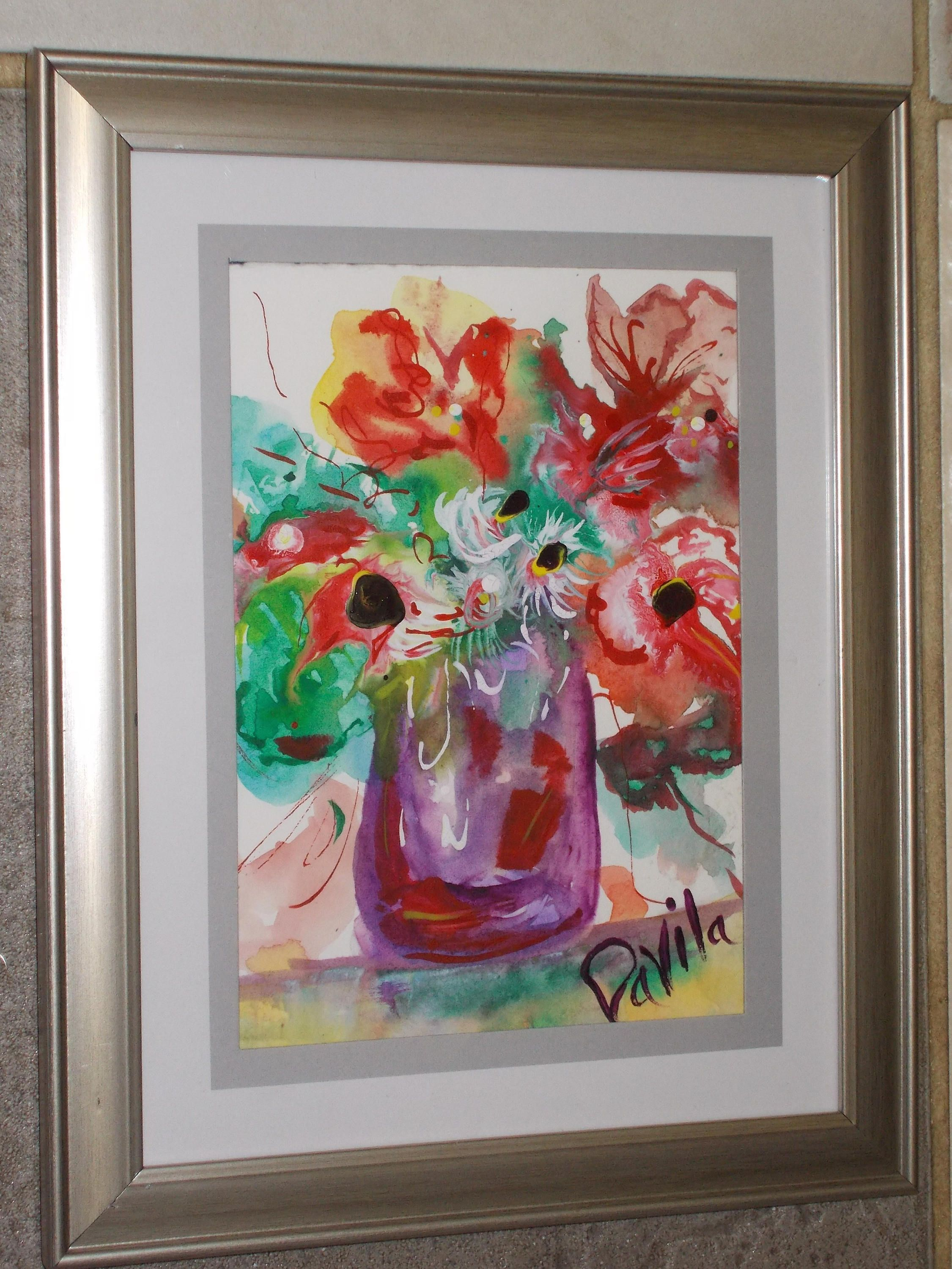 Original Floral Delight impressionstic watercolor painting by Texas ...