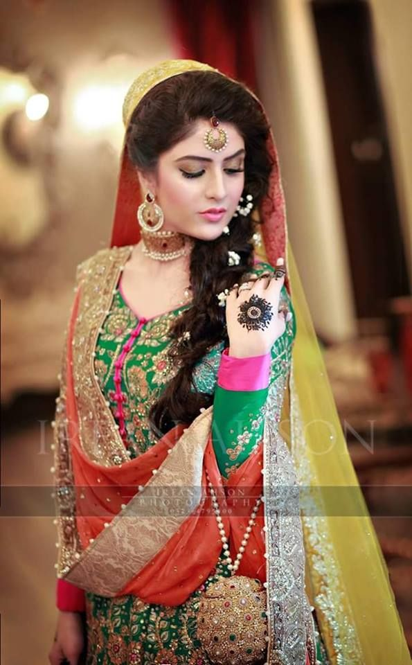 Mehndi Dress With Hijab : Pakistani mehndi dresses for wedding brides
