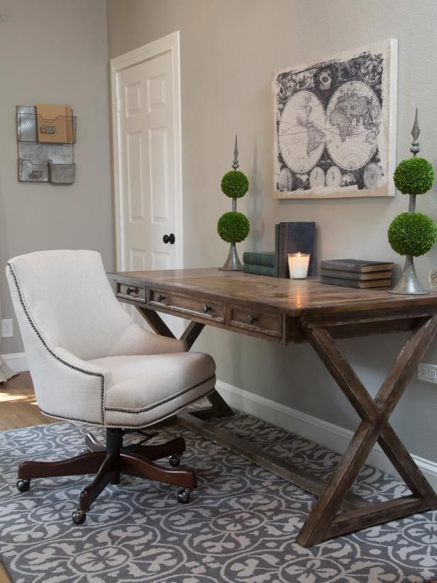 20 Great Farmhouse Home Office Design Ideas Writing Desk