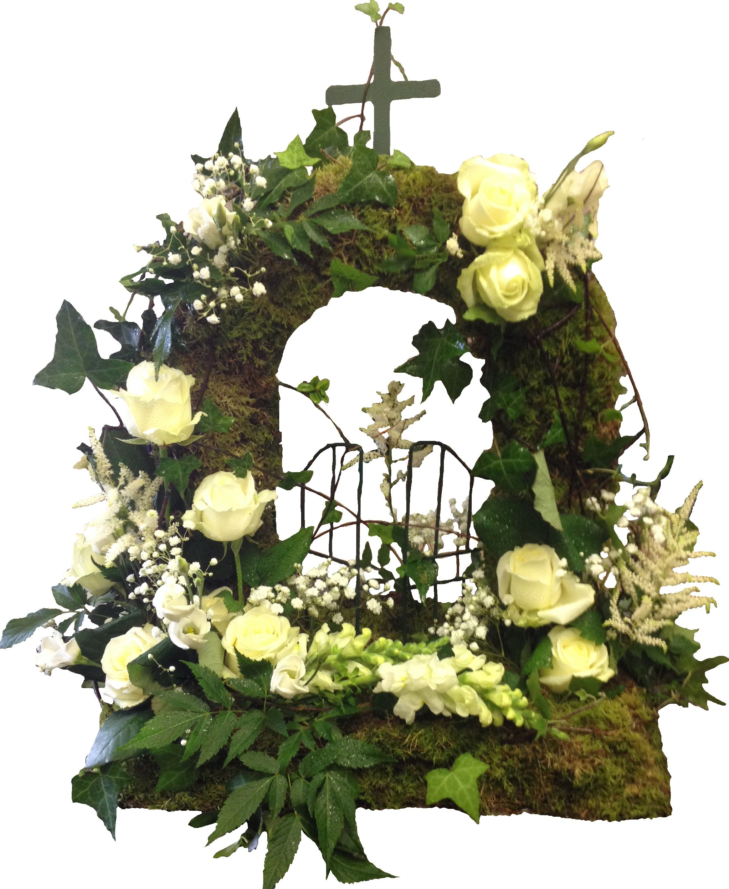 Natural style gates of heaven floral flowers moonstones ltd natural style gates of heaven floral flowers moonstones ltd fareham florist sympathy tribute gates heaven calla roses izmirmasajfo