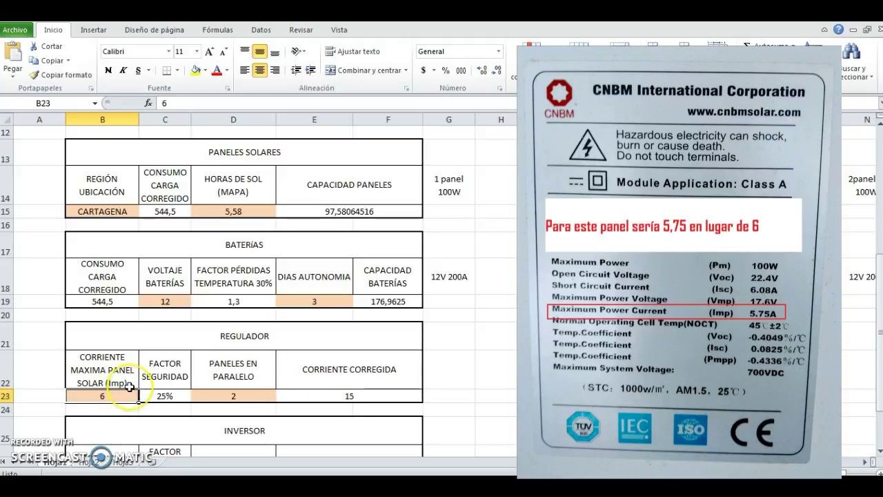 Calculo Paneles Solares Facil Hoja De Excel Para Mexico Y Colombia En 2020 Paneles Solares Panel Calculadora