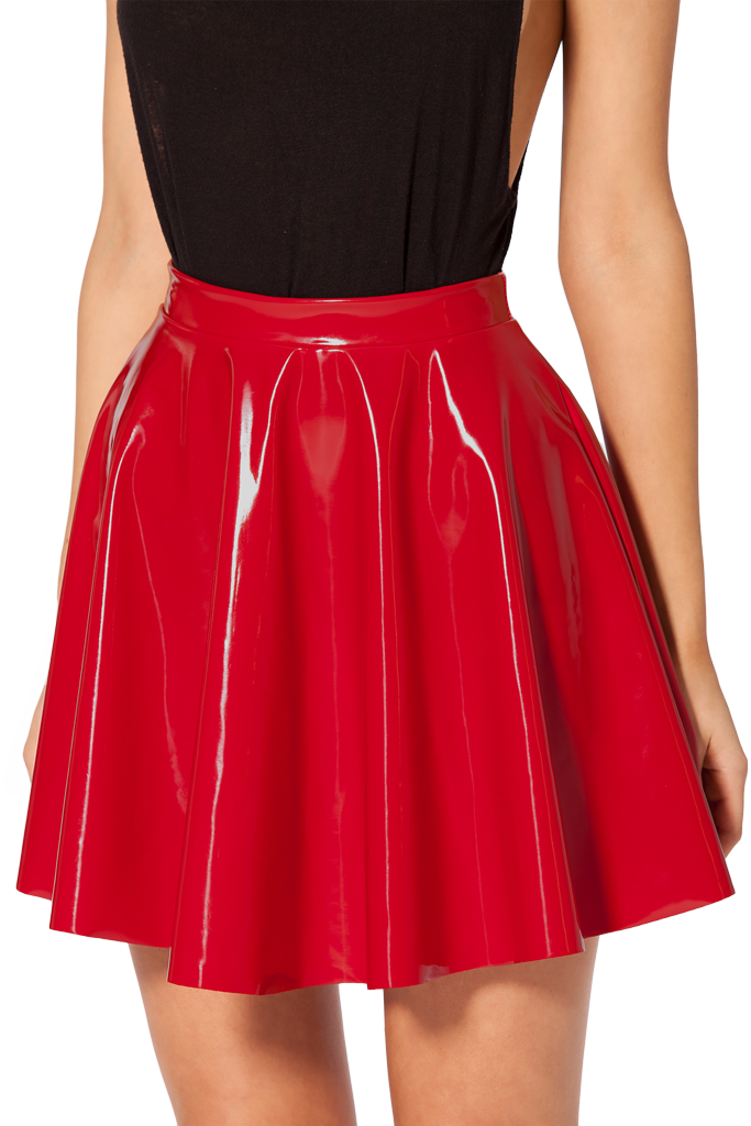 PVC Red Skater Skirt | Best Red skater skirt, Skater skirt and ...