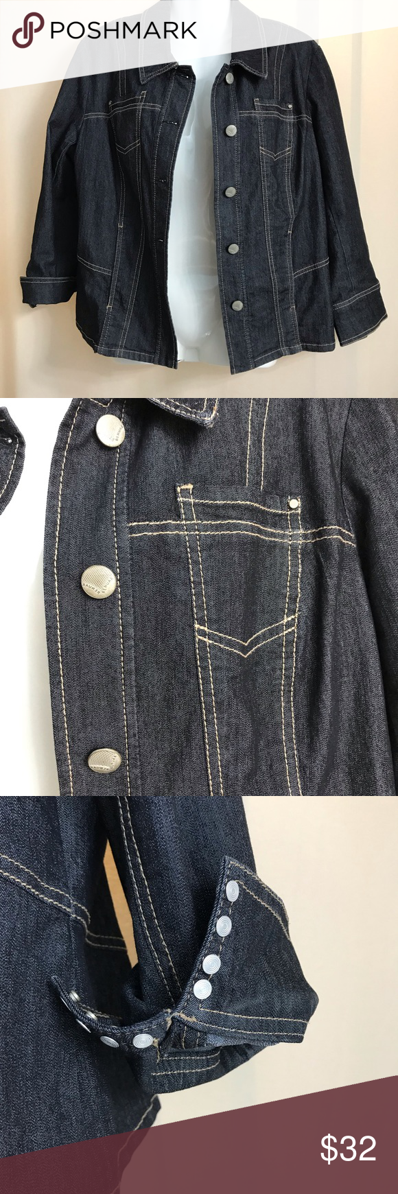 Renuar Dark Denim Jean Jacket Dark Denim Jeans Dark Denim Clothes Design [ 1740 x 580 Pixel ]