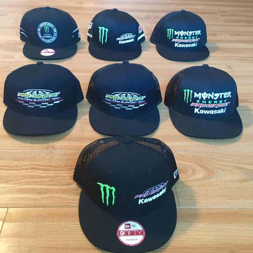 Monster Energy Athlete Hats Hat Team Pro Circuit Kawasaki New Era Snapback   fashion  clothing  shoes  accessories  mensaccessories  hats  ad (ebay  link) 5194e33bff9