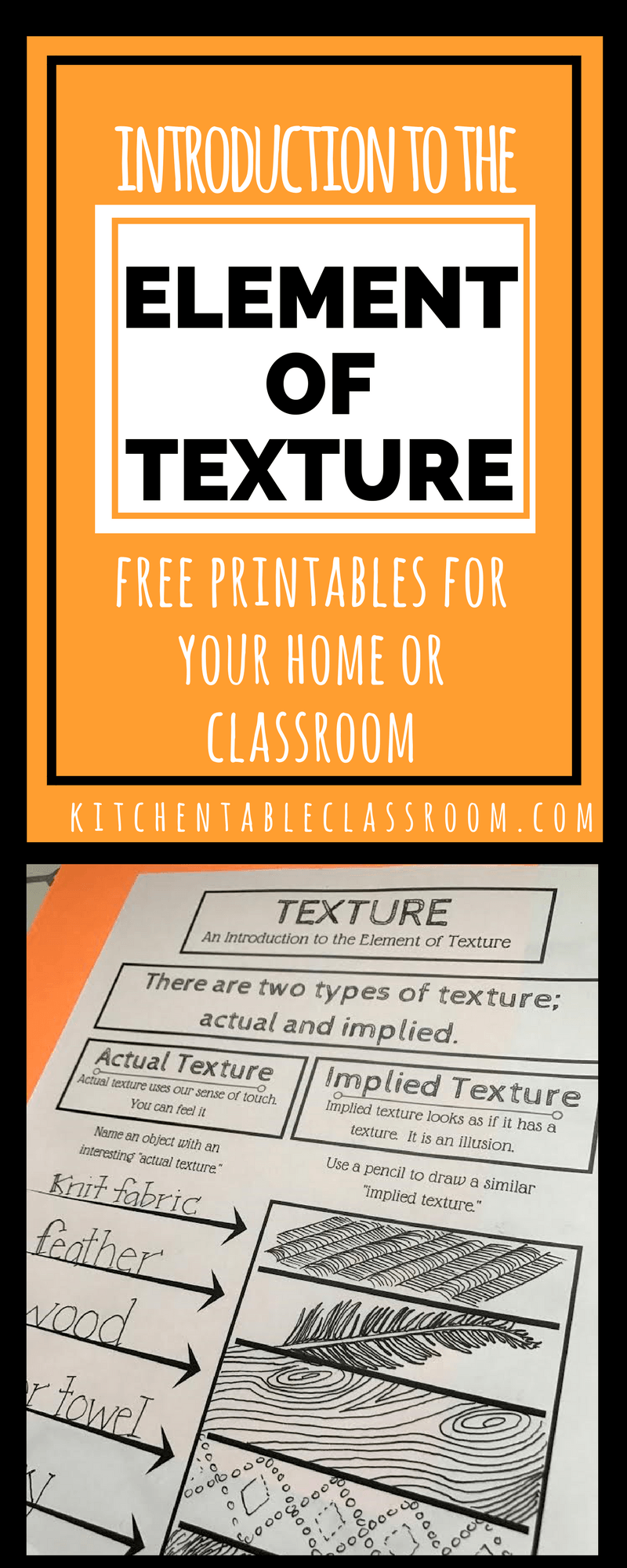 An Intro to the Element of Texture in Art with printable | Pinterest ...