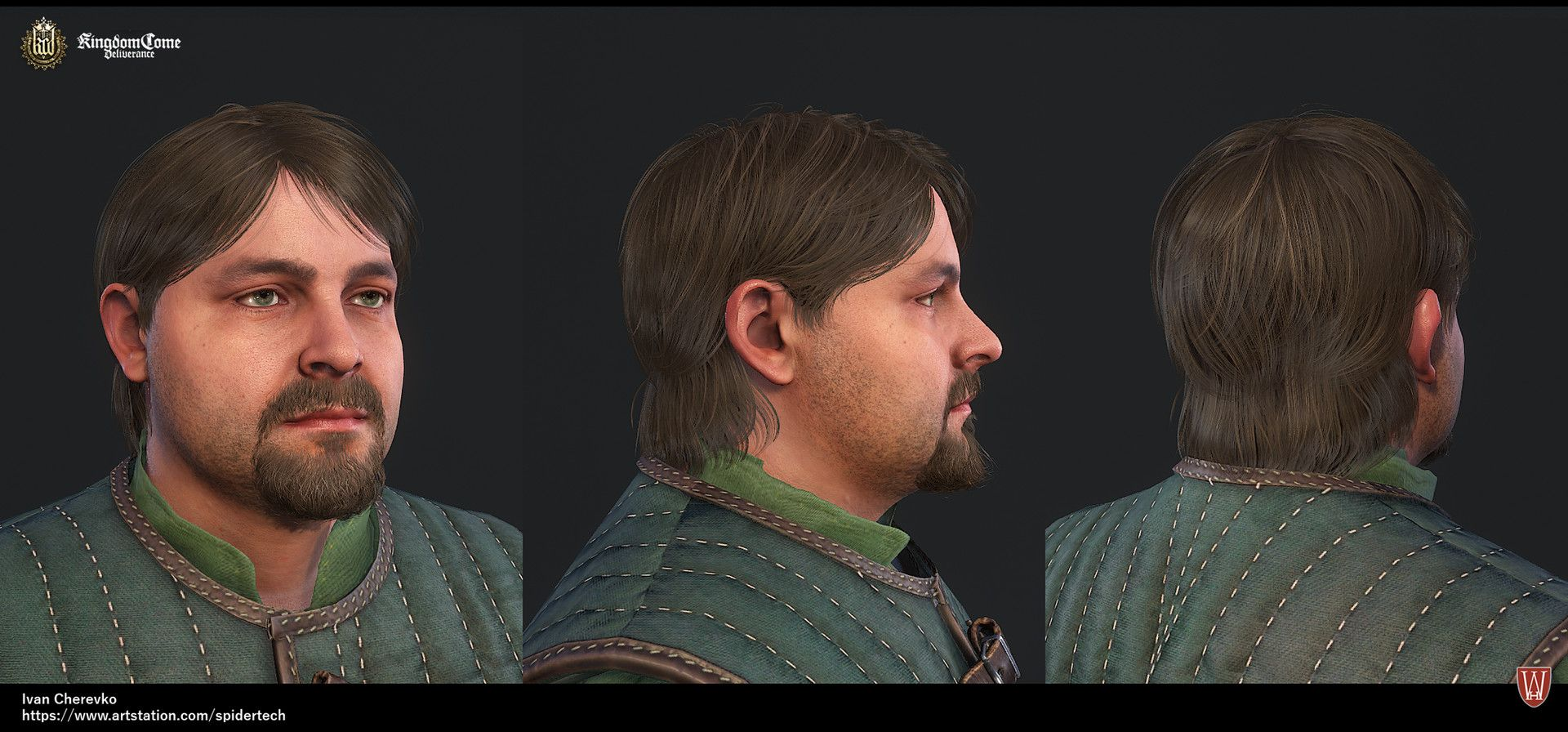 artstation - kingdom come: deliverance low poly haircuts and beards